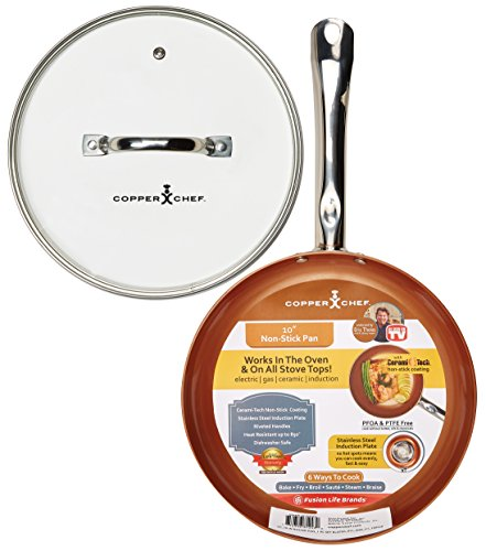 Copper Chef 10″ Round Pan with Glass Lid