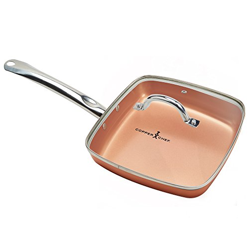 Copper Chef Square Fry Pan with Lid